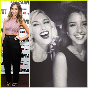 Jessica Alba Is Stoked To See Gwen Stefani Perform at Global Citizen Festival