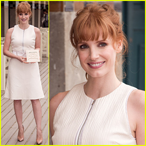 Jessica Chastain Gets a Dedicated Beach Locker Room at Deauville!