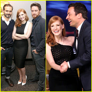Jessica Chastain Slow Dances with Jimmy Fallon - See the Pic!