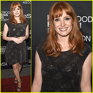 Jessica Chastain Sparkles in Armani at InStyle TIFF Party