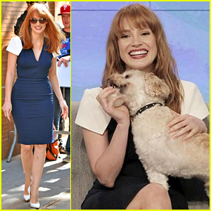 Jessica Chastain's Three-Legged Dog Chaplin Makes His TV Debut on 'The View'