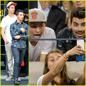 Joe Jonas & Ansel Elgort Bring Their Bromance to U.S. Open!