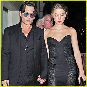 Johnny Depp & Amber Heard Hold Hands After the GQ Men of the Year Awards 2014