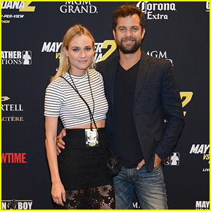Joshua Jackson & Diane Kruger Make Fight Night a Date Night!