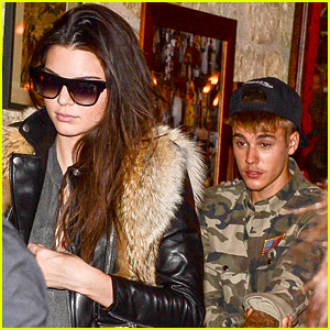 Justin Bieber Grabs Dinner with Kendall Jenner in Paris