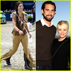 Kaley Cuoco Dresses Up Like Pocahontas To Compete in a Horse Show (Photos)