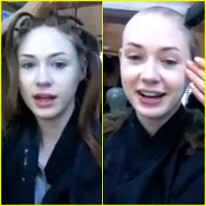 Karen Gillan Shaving Her Head for 'Guardians' - Watch the Video!