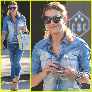 Kate Walsh Is All About Double Denim in Los Angeles