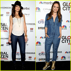 Katie Holmes & Olivia Wilde Look Darling in Denim at Global Citizen Festival 2014!