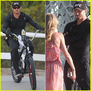 Kellan Lutz Chats Up a Cute Blonde Outside Pilates Class