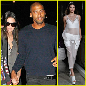 Kendall Jenner Holds Hands with a Mystery Man During Milan Fashion Week!