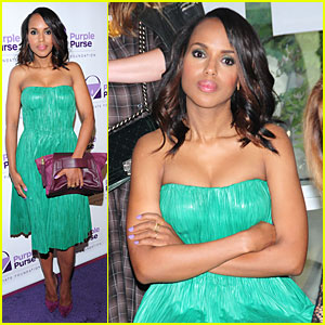 Kerry Washington Fights Against Domestic Violence at Purple Purse Programe