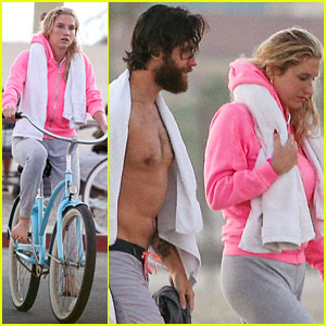 Kesha Has a Low Key Beach Date with Brad Ashenfelter