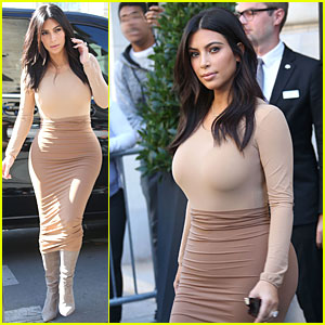 Kim Kardashian Puts Curves On Display During Paris Shopping Trip