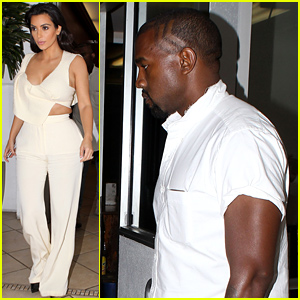 Kim Kardashian Rocks Sexy Crop Top for Dinner with Kanye West & Kris Jenner