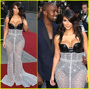 Kim Kardashian & Kanye West Shine Bright at GQ Men of the Year Awards 2014