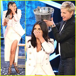 Kim Kardashian Screams Throughout Ice Bucket Challenge - Watch Now!
