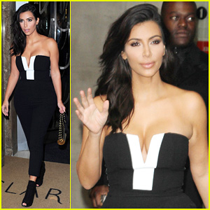 Kim Kardashian Visits BBC Radio 1 After Being Crowned GQ's Woman of the Year 2014