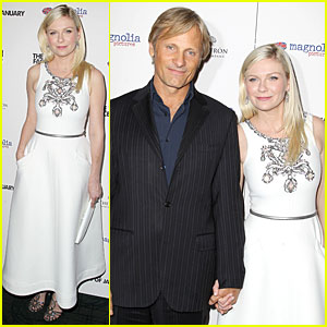 Kirsten Dunst & Co-Star Viggo Mortensen Hold Hands at 'Two Faces Of January' Premiere