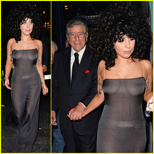 Lady Gaga Celebrates 'Cheek to Cheek' Release in See-Through Dress with Tony Bennett!
