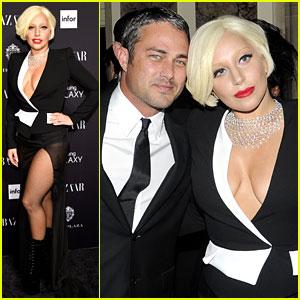 Lady Gaga Brings Boyfriend Taylor Kinney to Harper's Bazaar's Icons Party!