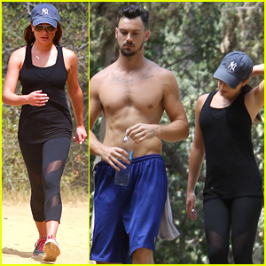 Lea Michele Hikes Tree People with Shirtless Matthew Paetz!