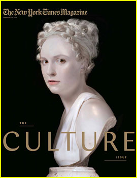 Lena Dunham Transforms Into a Statue for 'NYT Magazine'