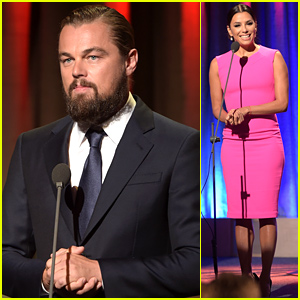 Leonardo DiCaprio Awarded at Global Citizen Awards, Raps 'Scenario' Alongside Jamie Foxx - Watch the Amazing Video!