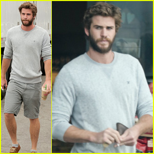 Liam Hemsworth Gets Coffee After Miley Cyrus' Love Declaration