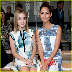 Lily Aldridge & Kiernan Shipka Buddy Up for Tory Burch Show