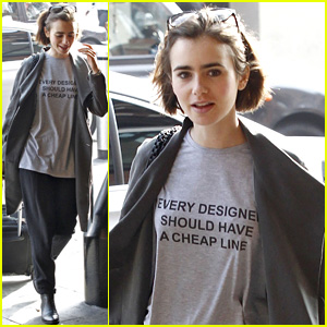 Lily Collins Says 'Every Designer Should Have A Cheap Line'