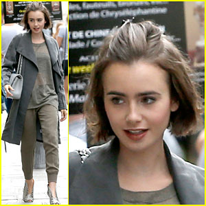 Lily Collins Brings Her Fashion A-Game to Paris