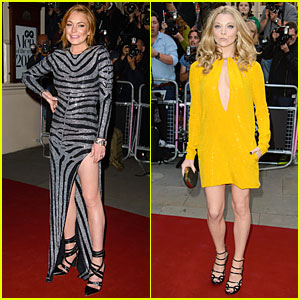 Lindsay Lohan Dazzles Us With Her Legs at GQ Men of the Year Awards 2014