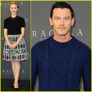 Luke Evans & Sarah Gadon Begin 'Dracula Untold' Press in Berlin - Watch a Clip from the Film Here!