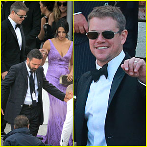 Matt Damon Attends George Clooney's Wedding with Wife Luciana