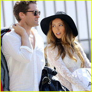 Matthew Morrison & Renee Puene Look Picture Perfect On Set