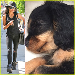 Naya Rivera Shows Off New Puppy, Emmy!