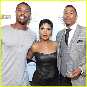 Michael B. Jordan Supports Nick Cannon at Get Lucky For Lupus LA!