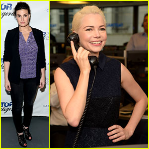 Michelle Williams & Idina Menzel Represent Broadway at 9/11 Charity Event