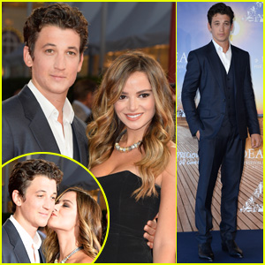 Miles Teller's Model Girlfriend Keleigh Sperry Kisses Him in Paris