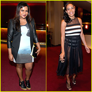Mindy Kaling & Rosario Dawson Check Out Trends at Opening Ceremony Fashion Show