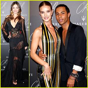Miranda Kerr & Rosie Huntington-Whiteley Glam Up for CR Fashion Book Party in Paris