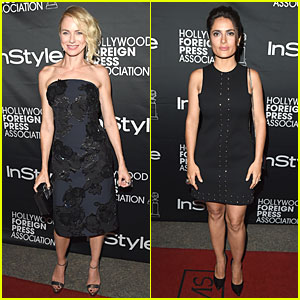 Naomi Watts & Salma Hayek Are Classy Women in Black at InStyle TIFF Party