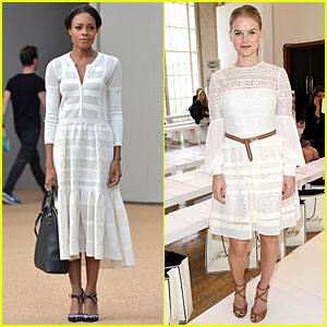 Naomie Harris & Alice Eve Know How to Stun in White at London Fashion Shows