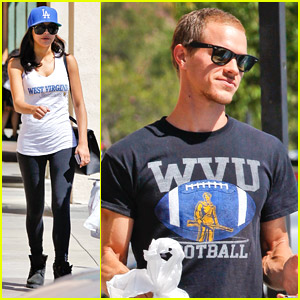 Naya Rivera & Hubby Ryan Dorsey Stock Up For WVU Football Game