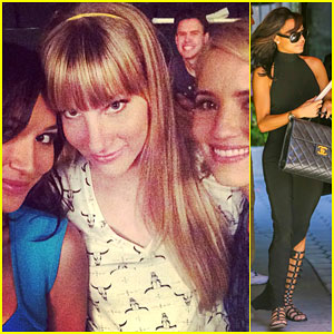 Naya Rivera Has a 'Glee' Reunion with Dianna Agron & Heather Morris!