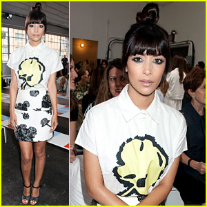 New Girl's Hannah Simone is a Vision in Print for Tanya Taylor!