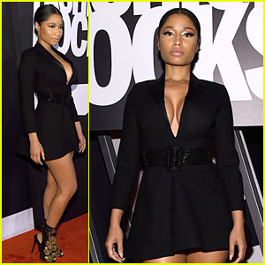 Nicki Minaj's Sexy Cleavage Heats Up Fashion Rocks 2014