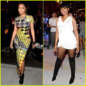 Nicki Minaj & Jennifer Hudson Show Off Fierce Style at Versus Versace Fashion Show
