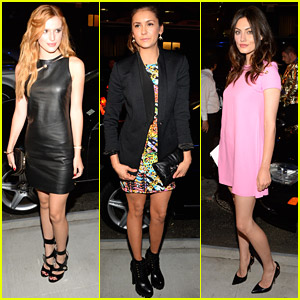 Nina Dobrev & Bella Thorne Get Edgy For Versus Versace Fashion Show at NYFW
